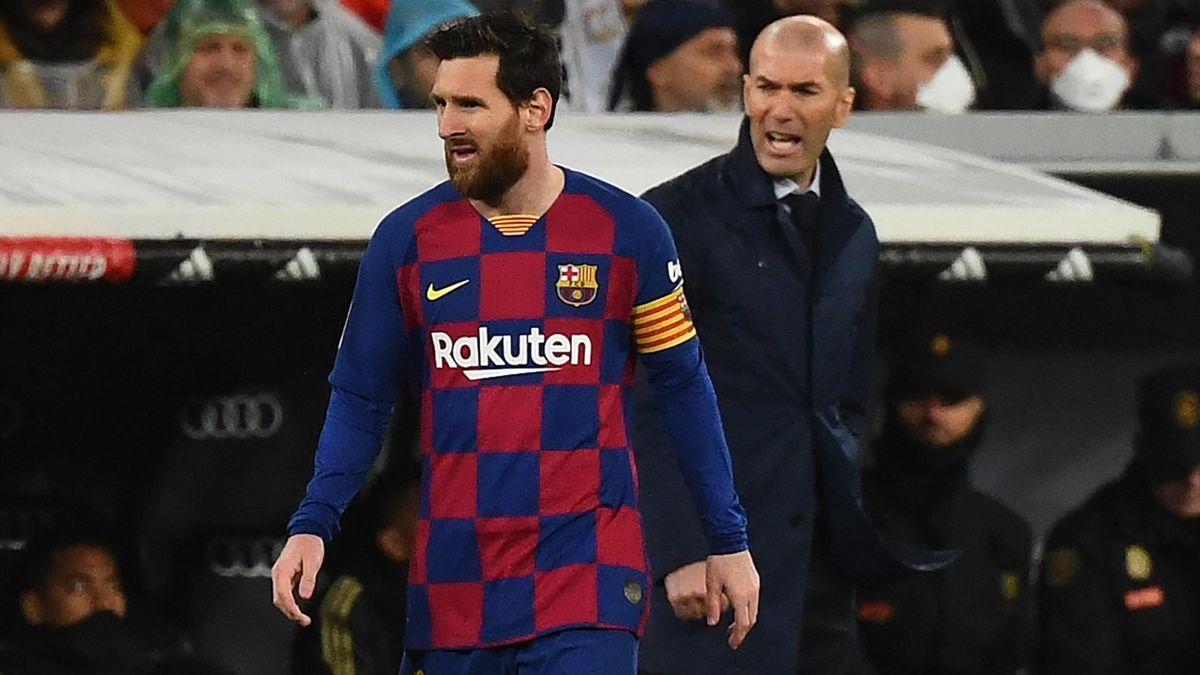 Lionel Messi (l.) und Zinédine Zidane (r.)