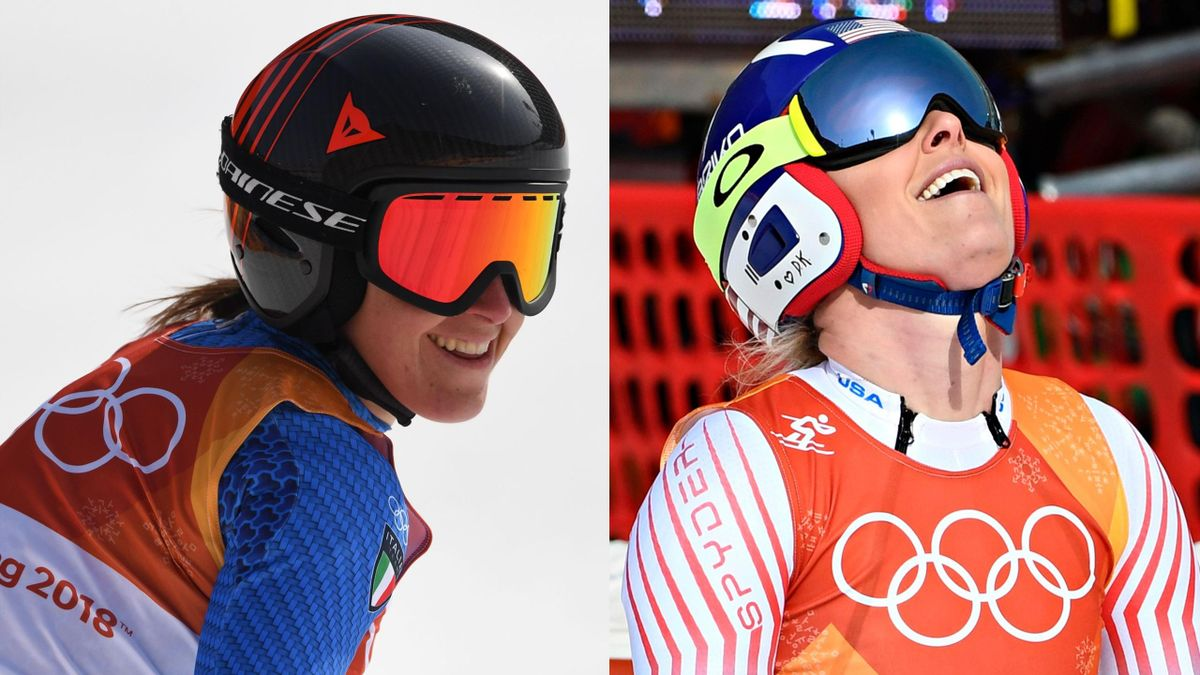 Italy's Sofia Goggia raced to women's downhill gold in Pyeongchang, with American Lindsey Vonn having to settle for bronze behind Ragnhild Mowinckel of Norway