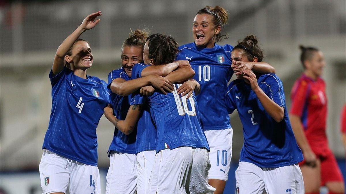 Italia-Romania 1-0, calcio femminile qualificazioni mondiali 2019 (Foto Twitter ufficiale FIGC)