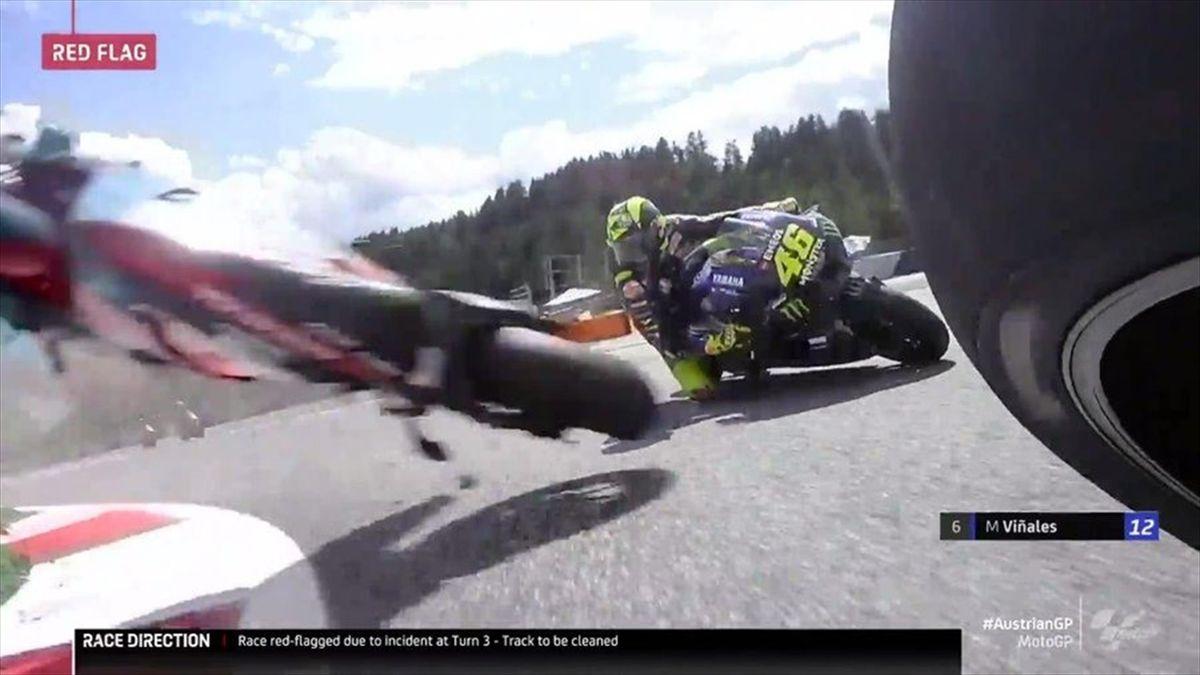 Valentino Rossi a fost extrem de norocos în Austria