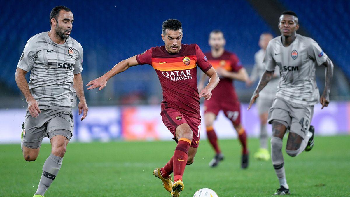 Pedro durante Roma-Shakhtar Donetsk, Europa League 2020-21