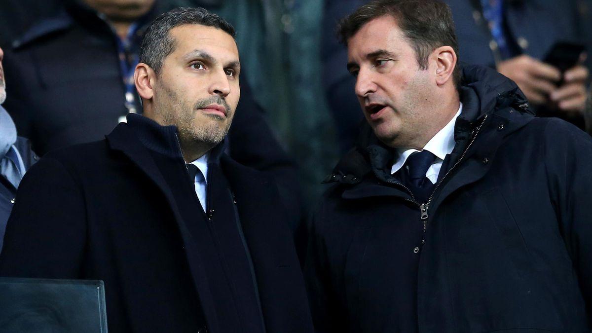 Khaldoon Al Mubarak, Chairman of Manchester City, and Ferran Soriano, CEO of Manchester City