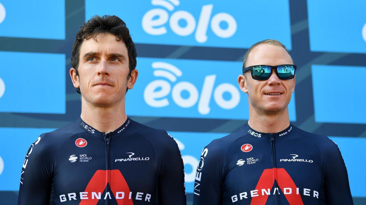 Geraint Thomas and Chris Froome at Tirreno-Adriatico