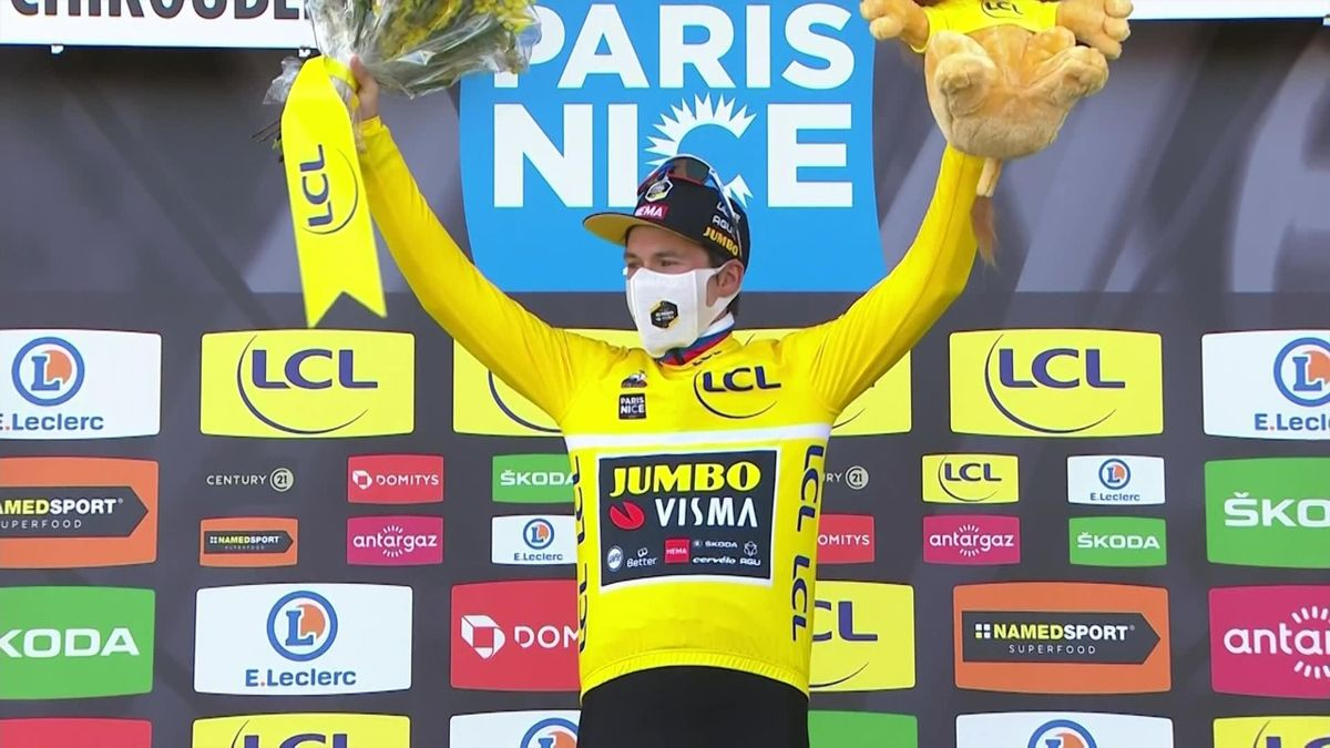 Paris-Nice Stage 4 highlights: Roglic triumphant as Geoghegan Hart crashes out