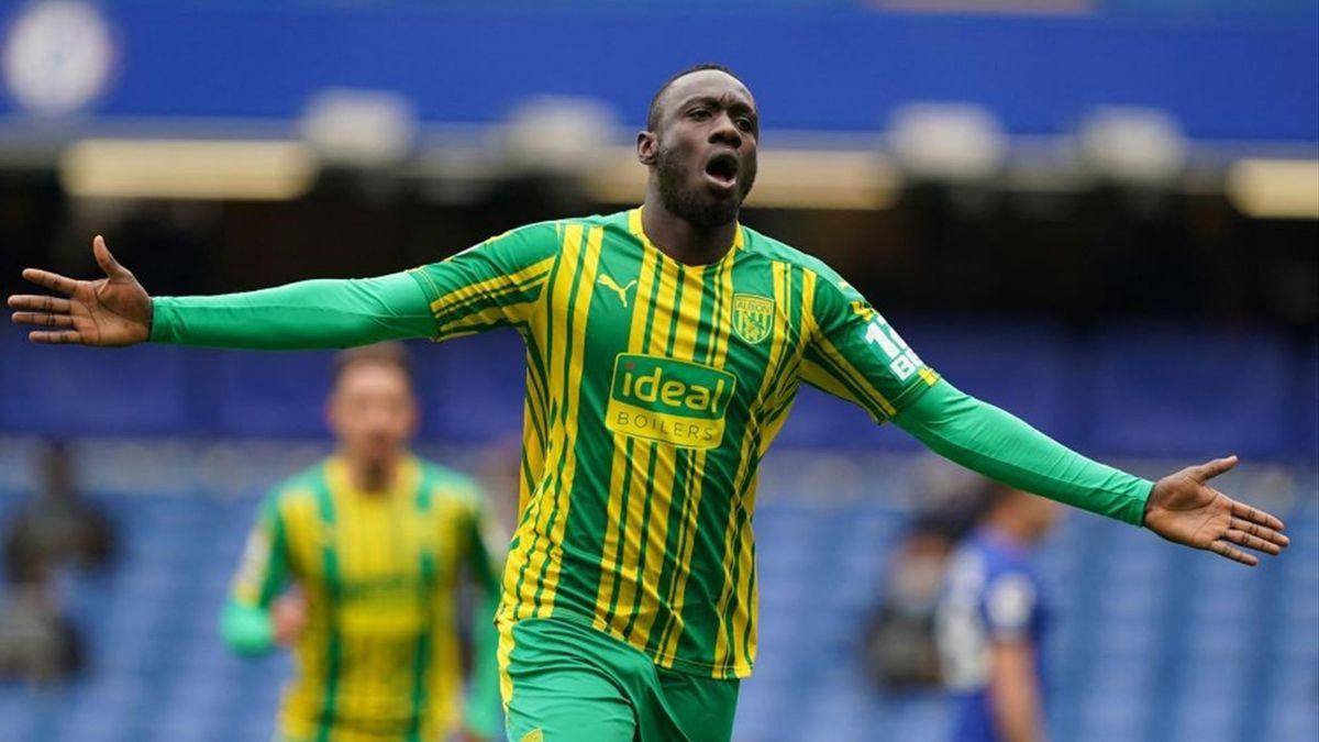 Mbaye Diagne buteur pour West Bromwich Albion à Chelsea en Premier League le 3 avril 2021