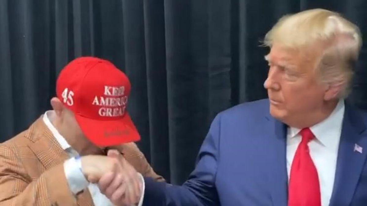 Колби Ковингтон и Дональд Трамп