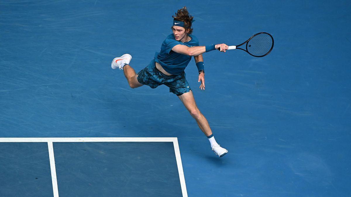 Andrey Rublev op de Australian Open