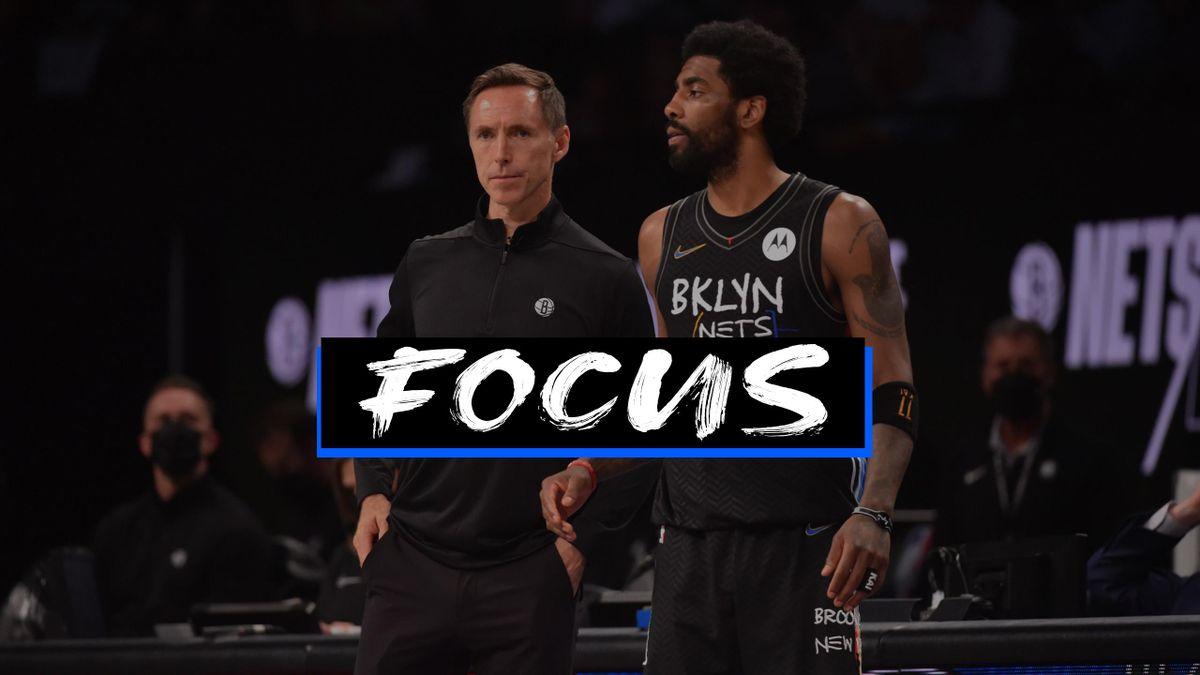 Coach Steve Nash e Kyrie Irving dei Brooklyn Nets - Focus