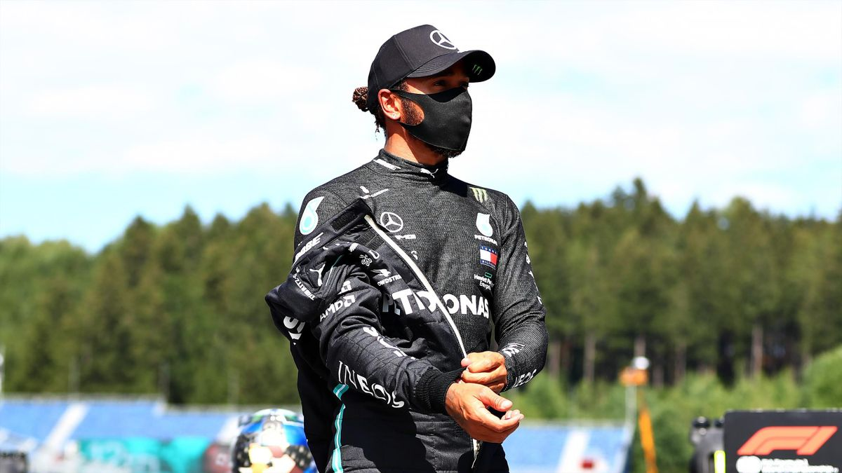 Lewis Hamilton (Mercedes) juste après la qualification du Grand Prix d'Autriche, le 4 juillet 2020