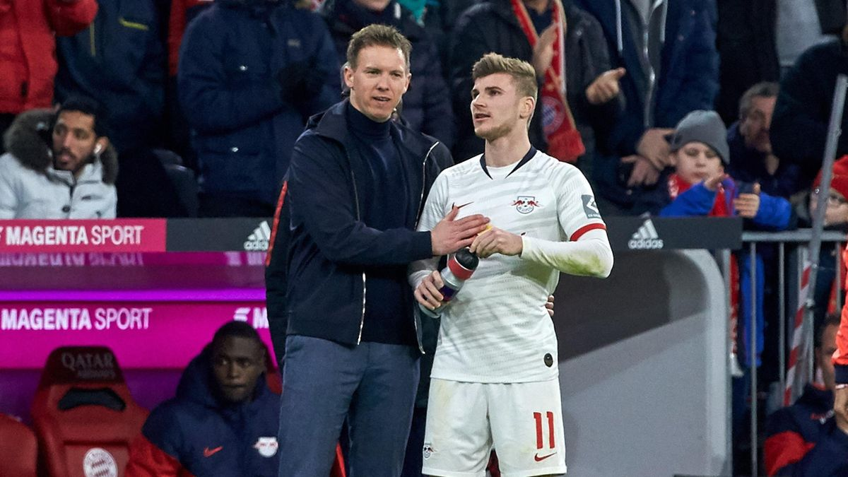 Julian Nagelsmann (links) und Timo Werner (RB Leipzig)