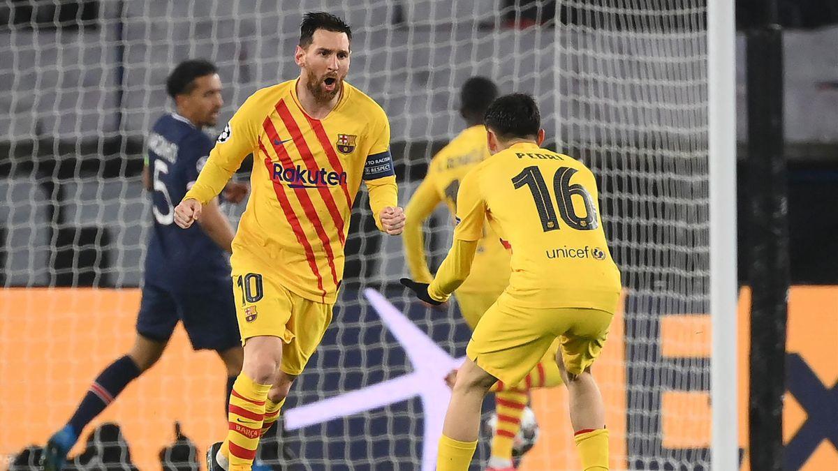 Leo Messi y Pedri (Barcelona)