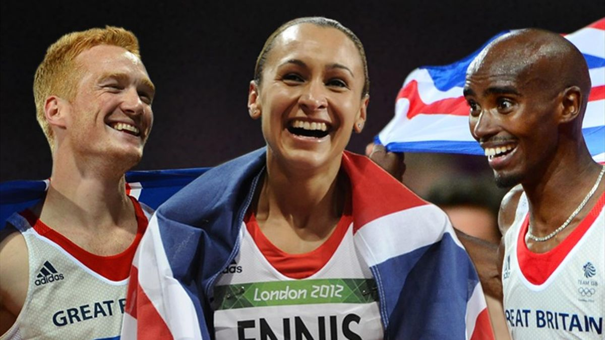Greg Rutherford, Jessica Ennis and Mo Farah - London 2012