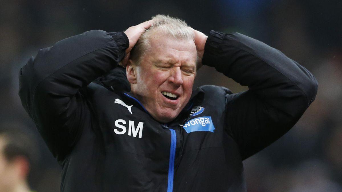 Newcastle United manager Steve McClaren looks dejected