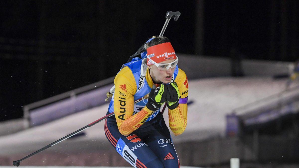 Denise Herrmann wurde Zweite im Einzel von Kontiolahti