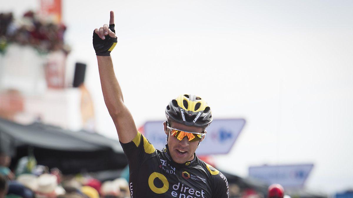 Lilan Calmejane, vainqueur de la quatrième étape de la Vuelta