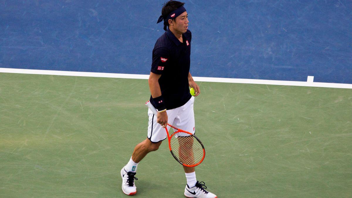 Kei Nishikori lors du tournoi ATP de Washington
