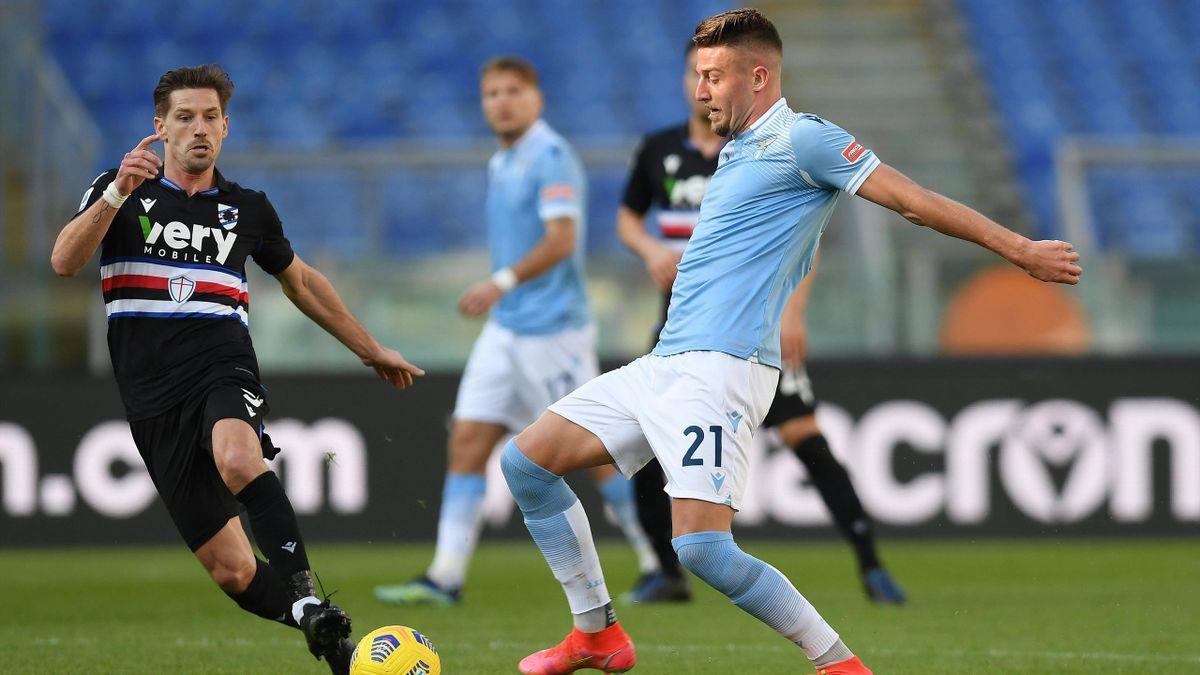 Milinkovic-Savic in Lazio-Sampdoria