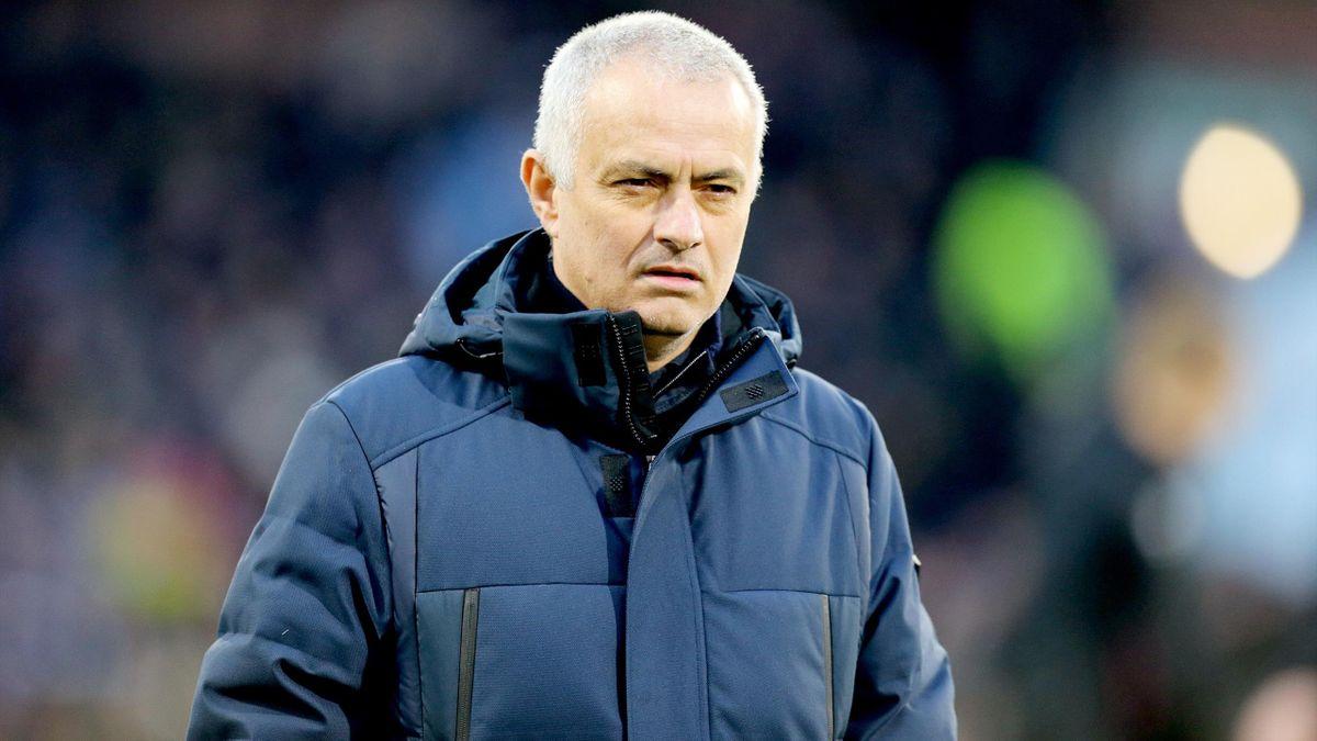José Mourinho à Turf Moor pour Burnley - Tottenham, le 7 mars 2020