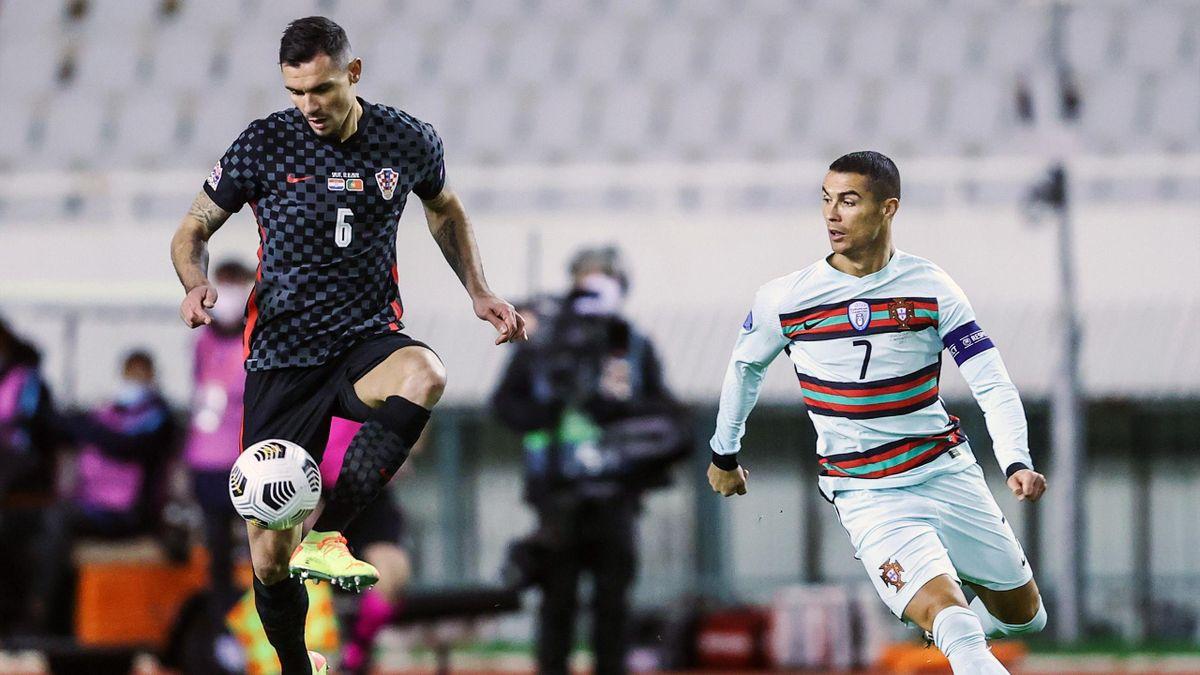 Dejan Lovren face à Cristiano Ronaldo