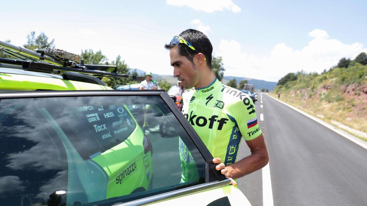 Alberto Contador abandonne lors de la 9e étape du Tour de France 2016