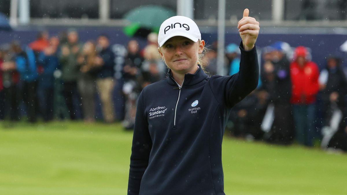 Louise Duncan impressed the Scottish fans at Carnoustie.