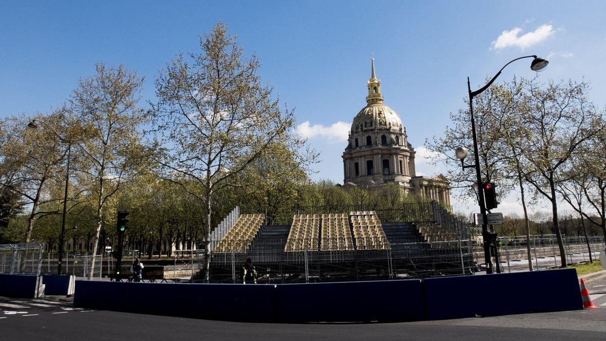Les installations pour l'ePrix de Paris, le 18 avril 2016