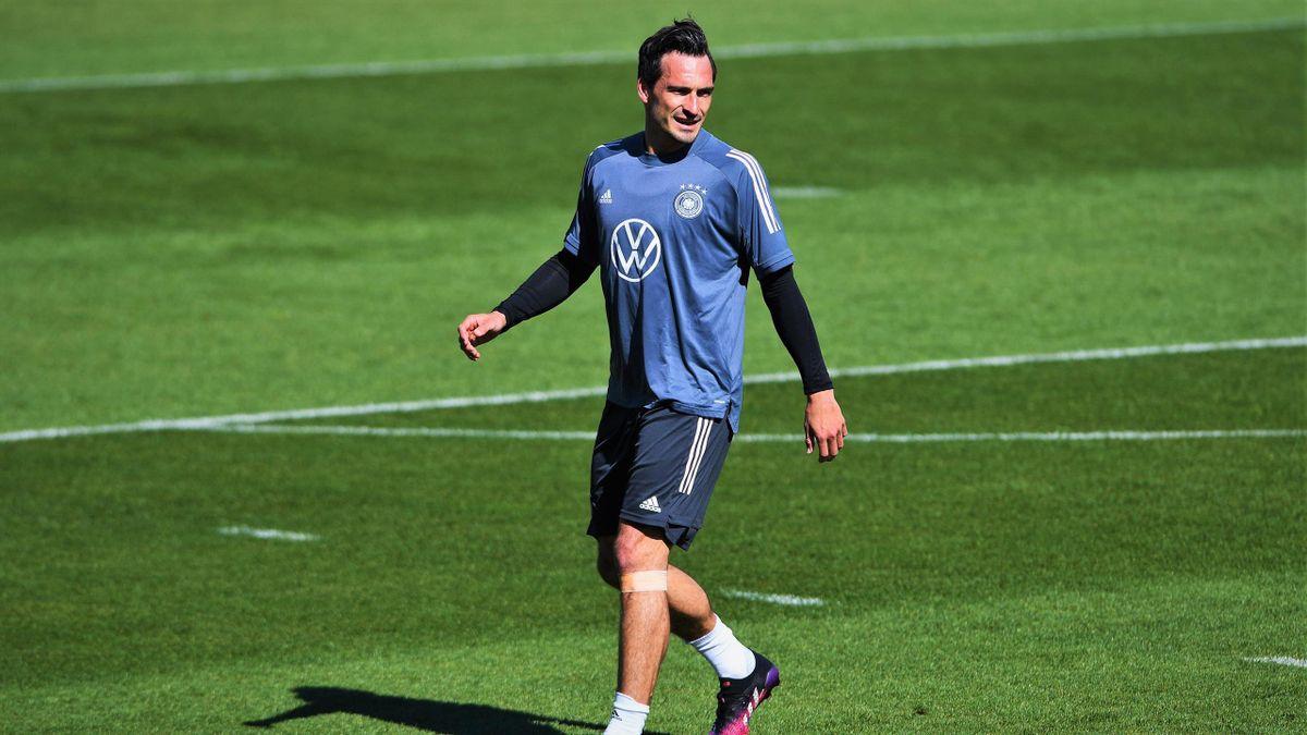 Mats Hummels im Trainingslager der deutschen Nationalmannschaft