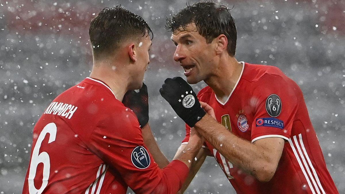 Thomas Müller und Joshua Kimmich vom FC Bayern