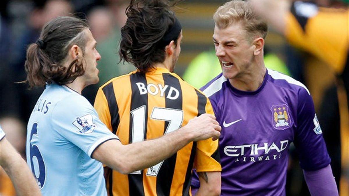 Joe Hart clashes with George Boyd