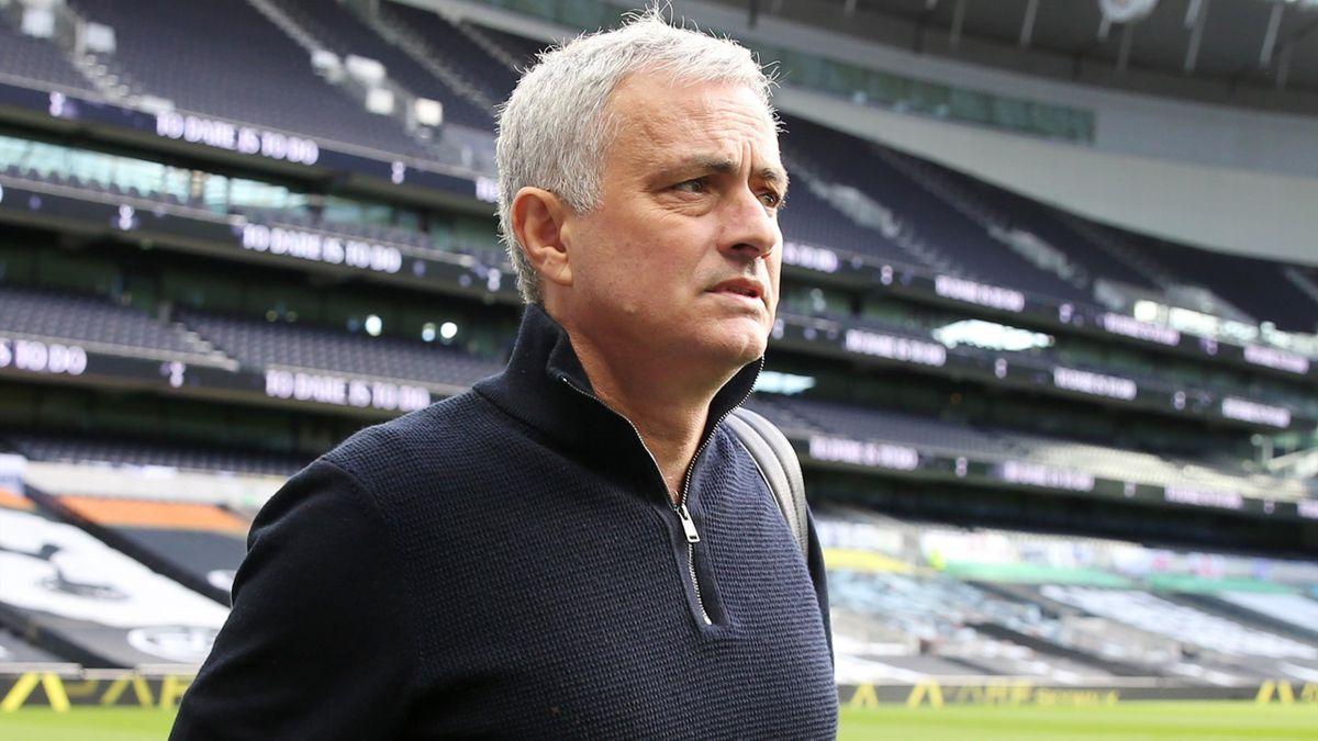Tottenham Hotspur Manager José Mourinho ahead of the Premier League match between Tottenham Hotspur and Leicester City at Tottenham Hotspur Stadium on December 20, 2020 in London, United Kingdom