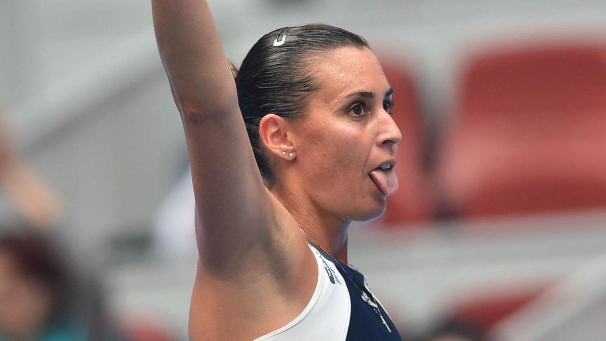 Flavia Pennetta dopo una vittoria al Wta di Pechino - 2015