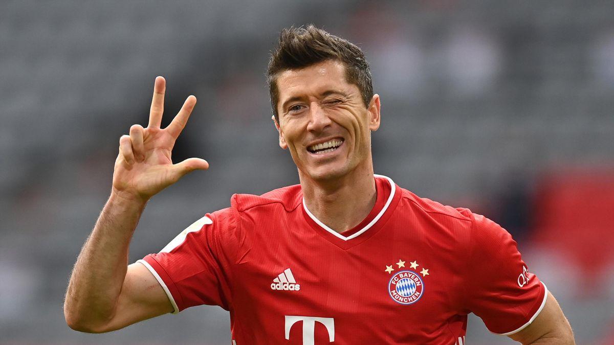 Bayerns Robert Lewandowski stellte im Spiel gegen Eintracht Frankfurt einen Torrekord auf