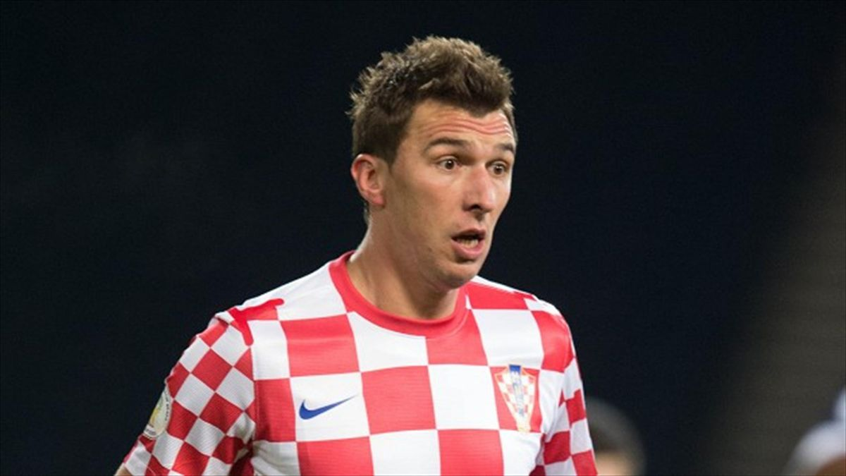 Mario Mandzukic scored twice for Croatia