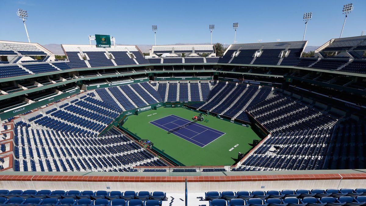 Le stade d'Indian Wells vide en 2015