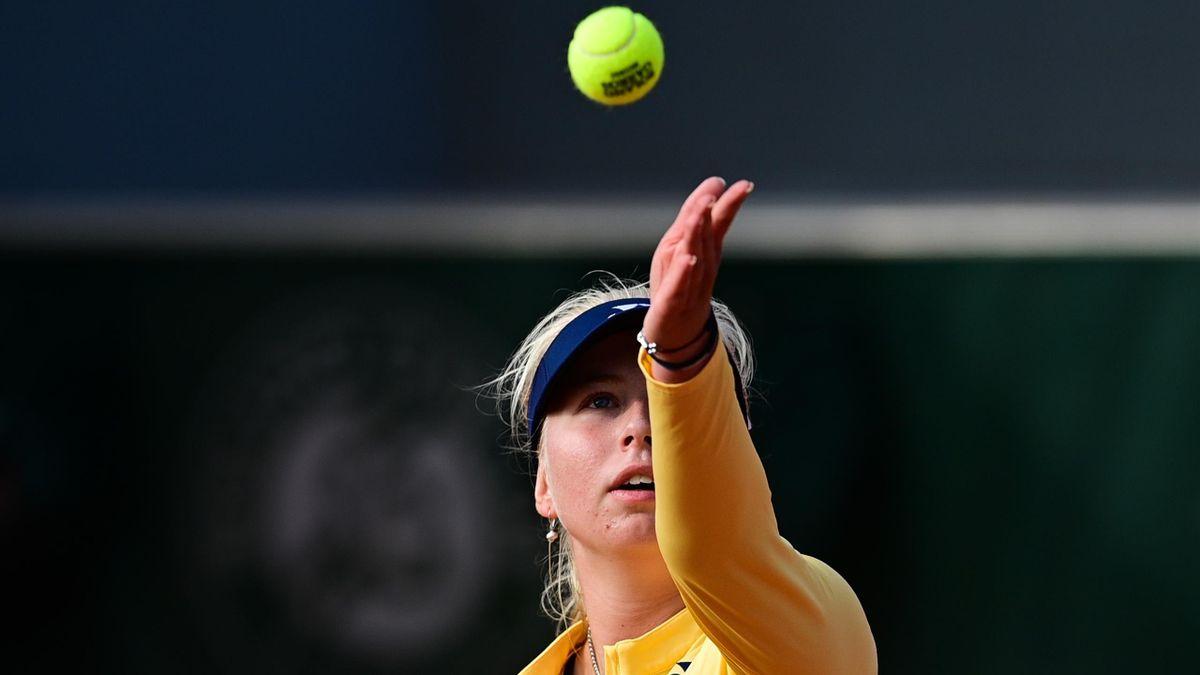 Clara Tauson lors de Roland-Garros 2020