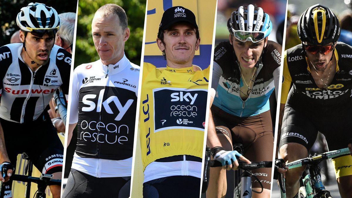 Tom Dumoulin, Chris Froome, Geraint Thomas, Romain Bardet et Primoz Roglic vont se jouer le général lors de cette dernière semaine du Tour 2018
