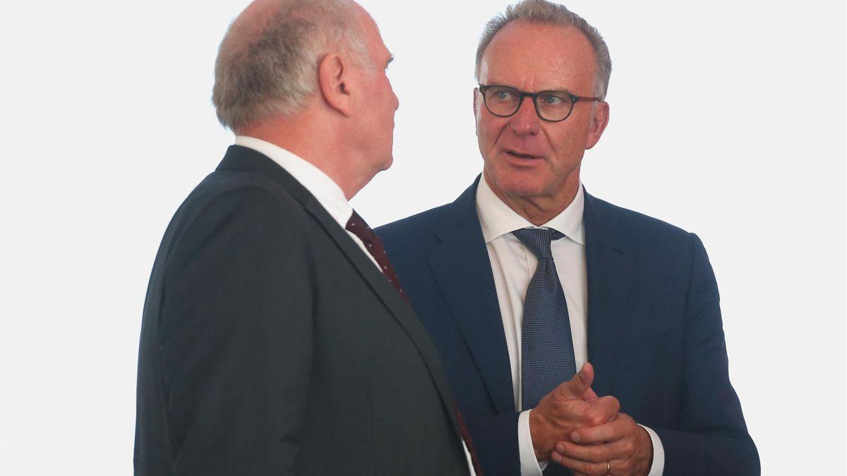 Uli Hoeneß und Karl-Heinz Rummenigge (FC Bayern München)