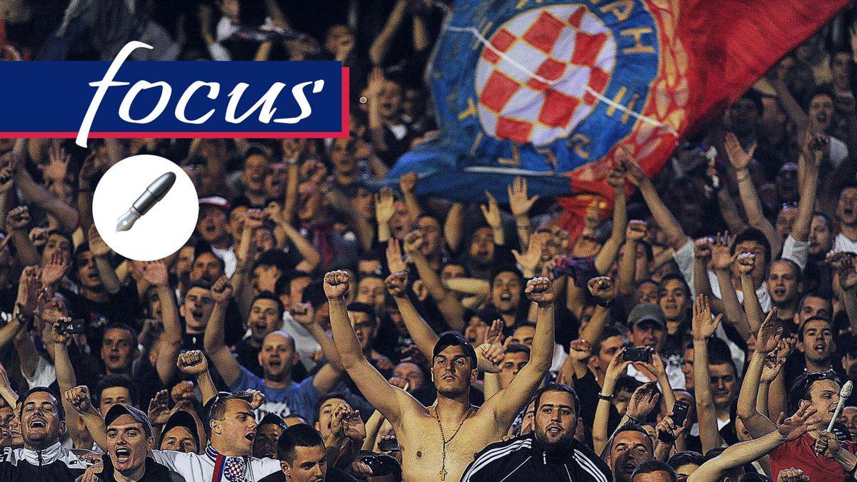 La tifoseria dell'Hajduk Spalato, una delle più calde fra le squadre delle Repubbliche Balcaniche, Getty Images