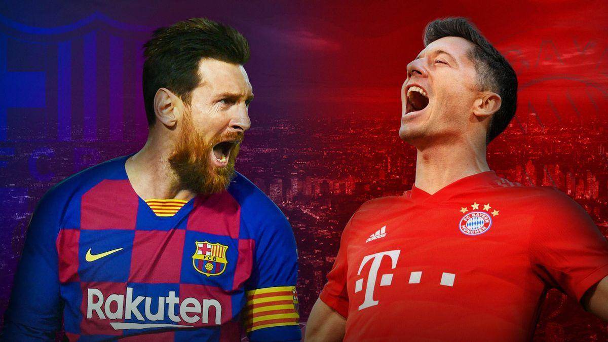 Lionel Messi și Robert Lewandowski se vor înfrunta deseară în cel mai tare meci din  sferturile UCL