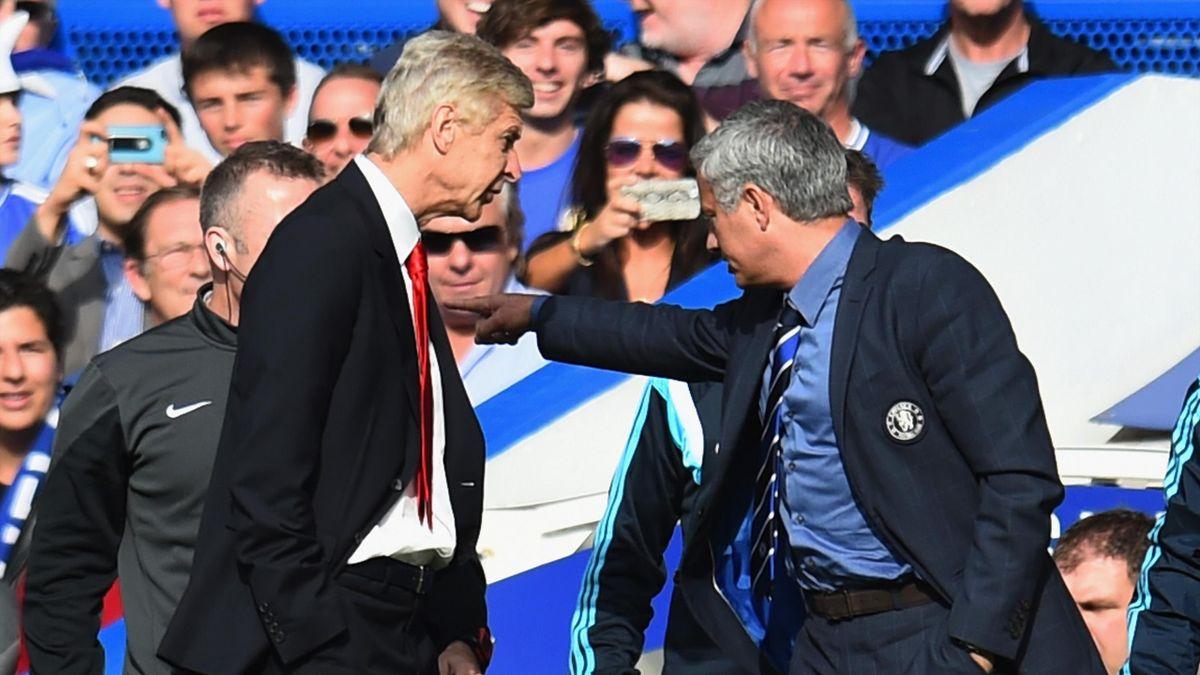 Arsene Wenger și Jose Mourinho