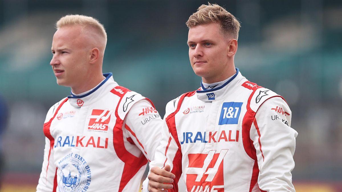 Die Haas-Piloten Mick Schumacher (rechts) und Nikita Mazepin gerieten in Zandvoort aneinander