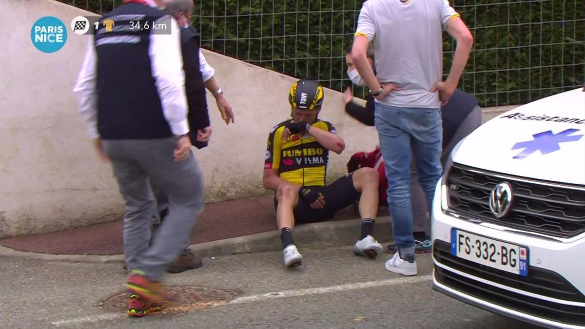 VIDEO: Parijs-Nice  De valpartij van Tony Martin