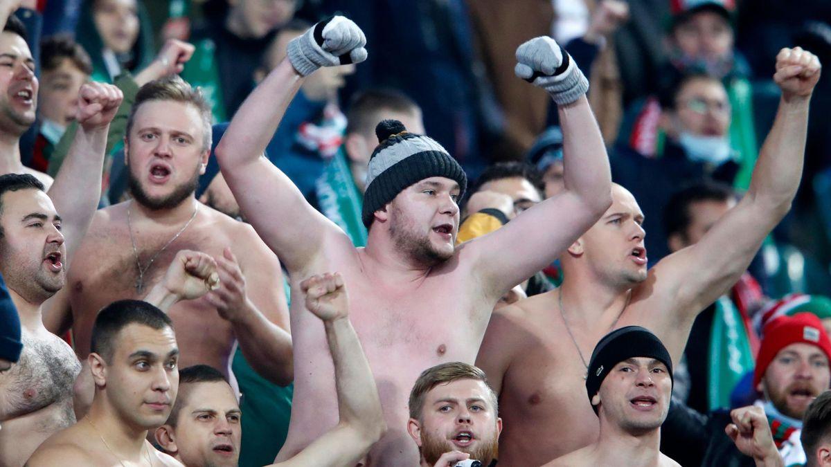Фанаты «Локомотива» на матче ЛЧ с «Баварией»