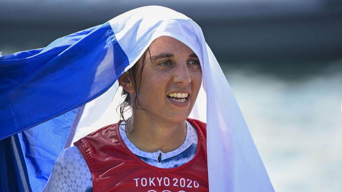 Charline Picon, médaillée d'argent à Tokyo