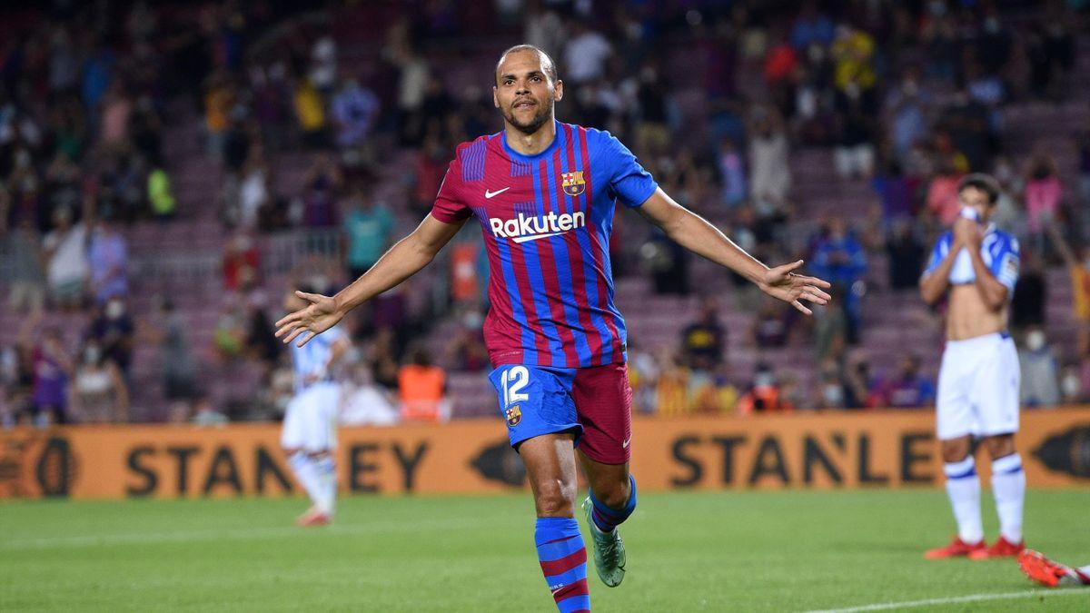 Barcelona 4 2 Real Sociedad Braithwaite Stars As Barca Begin Post Messi Era With Big Win Eurosport