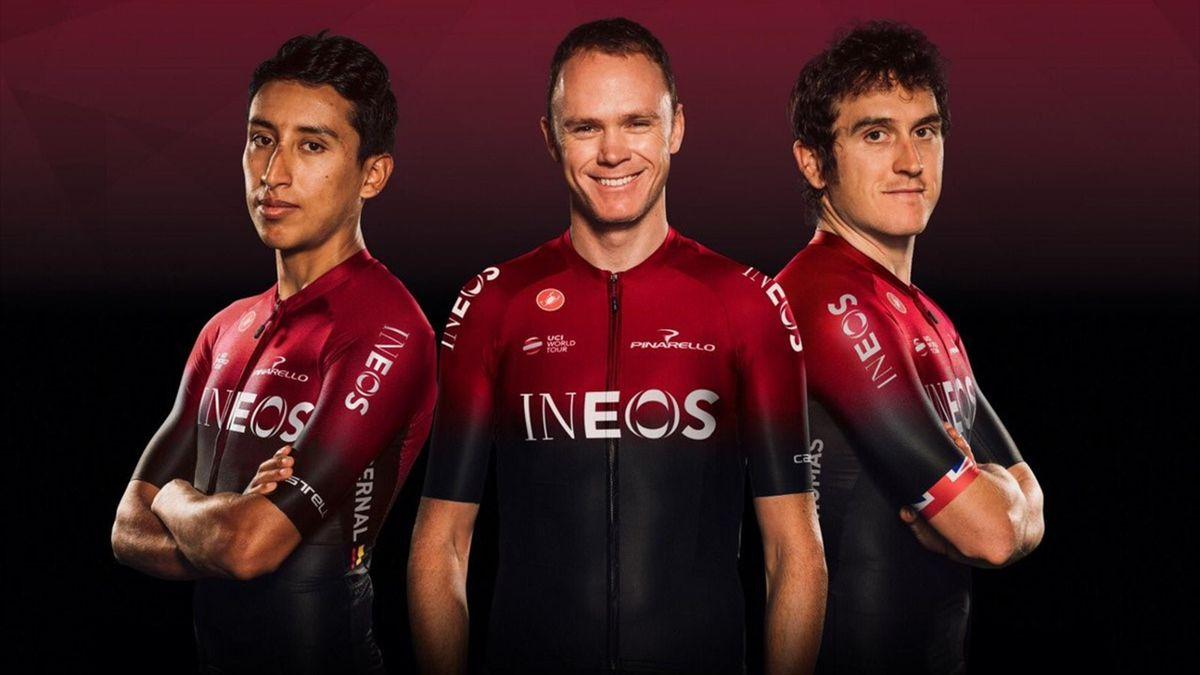 Egan Bernal, Chris Froome, Geraint Thomas, Team INEOS