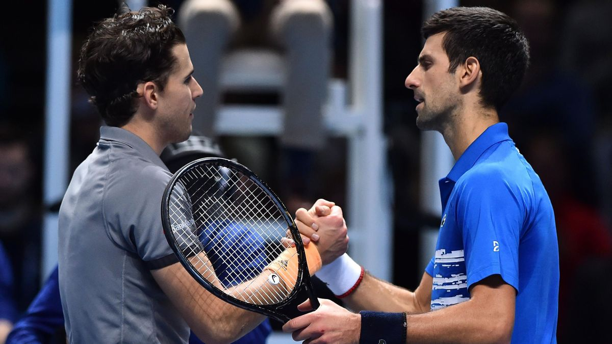 Dominic Thiem e Novak Djokovic - ATP Finals 2019