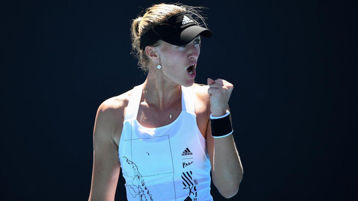 Kristina Mladenovic à l'Open d'Australie 2021