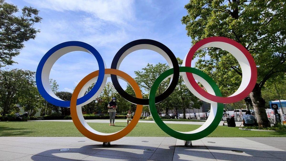 I cinque cerchi delle Olimpiadi di Tokyo 2020