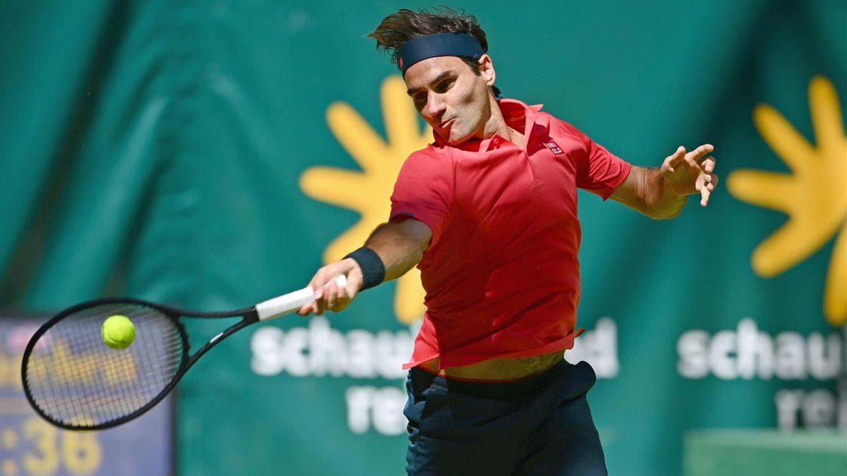 Roger Federer beim ATP-Turnier in Halle